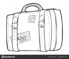 Malvorlagen   Linie Kunst Reisetasche, Koffer ...