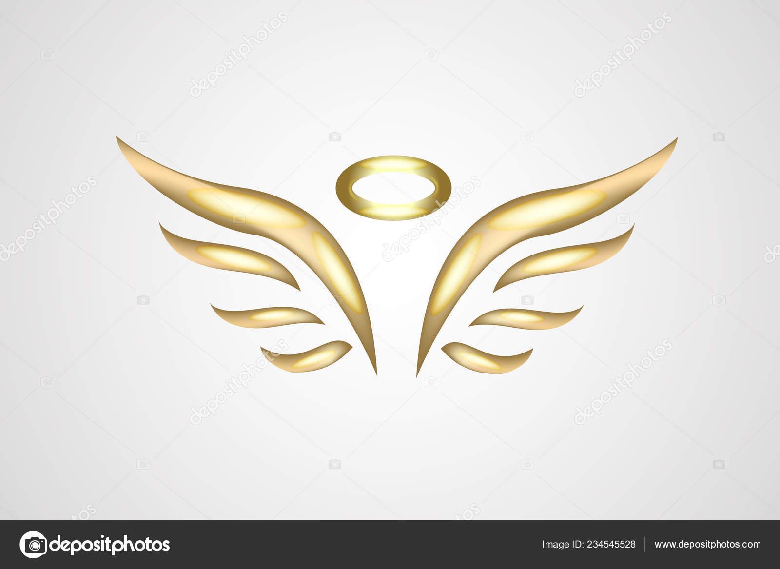 gold sketch angel wings