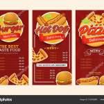 Set Menu Template Fast Food Vector Design Trendy Restaurant Stock Vector C Freshcare 315342888