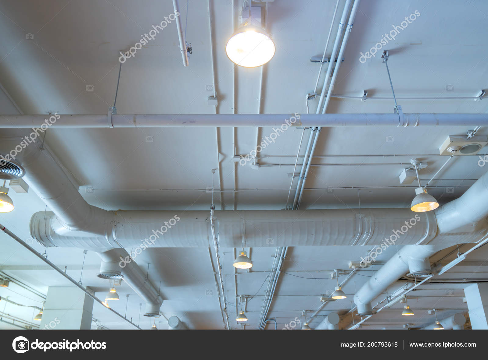 hight resolution of air duct wiring plumbing mall air conditioner pipe wiring pipe stock photo