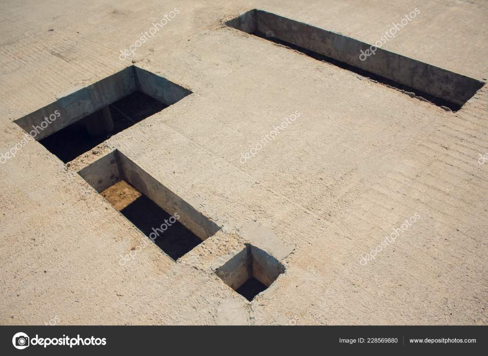 medium resolution of cement wall with rectangle hole for sewerage and electricity wiring photo by vershinin photo