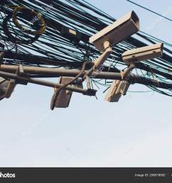 crazy messy chaos wires cables on electric poles photo by  [ 1600 x 1167 Pixel ]