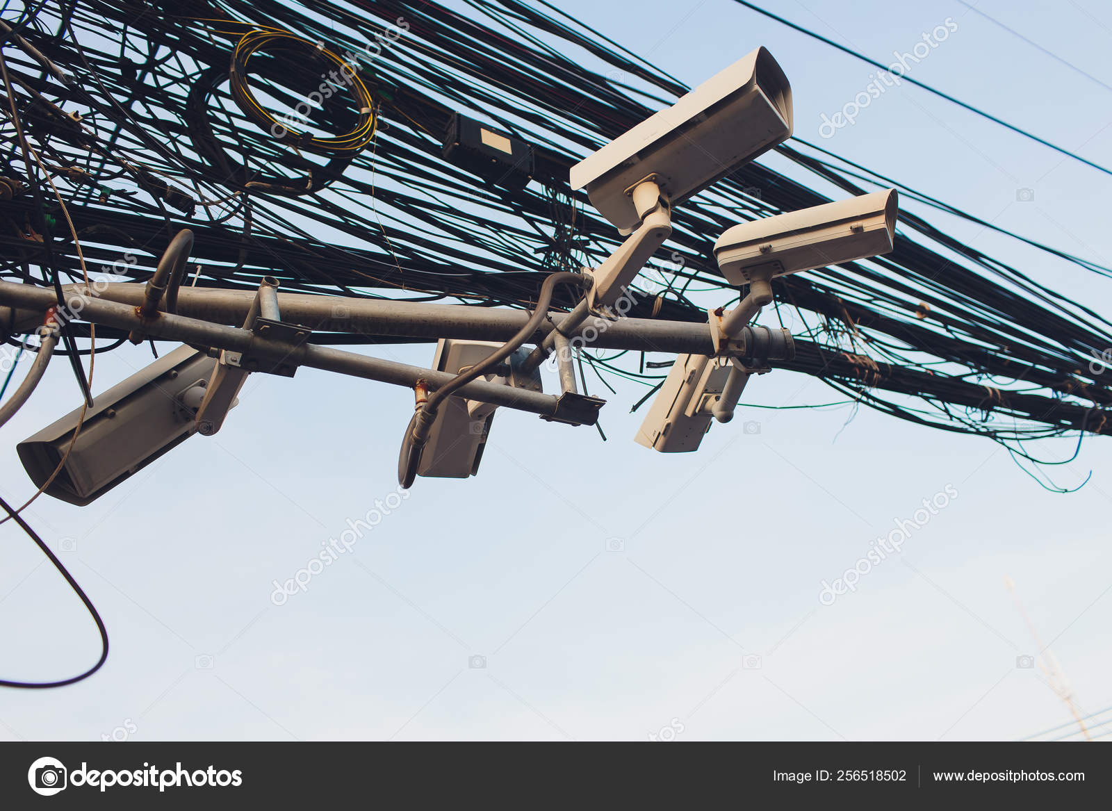 hight resolution of crazy messy chaos wires cables on electric poles photo by