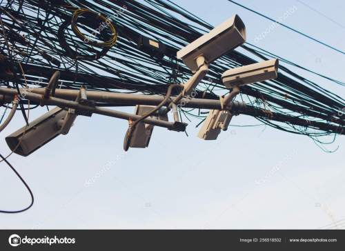 small resolution of crazy messy chaos wires cables on electric poles photo by