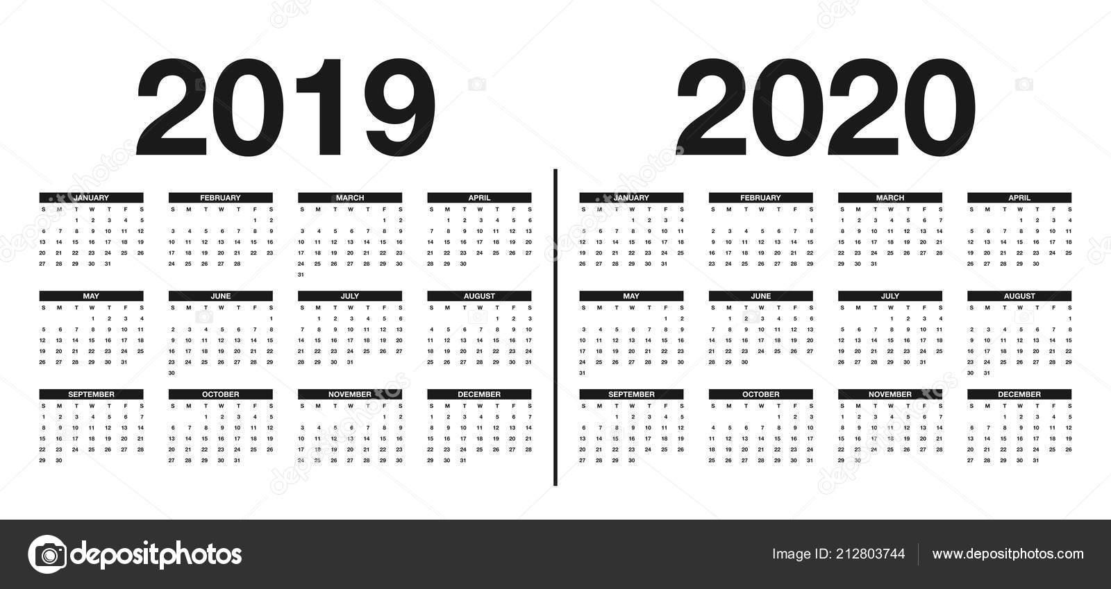 Calendario 2019 2020 Modello Disegno Del Calendario Nei