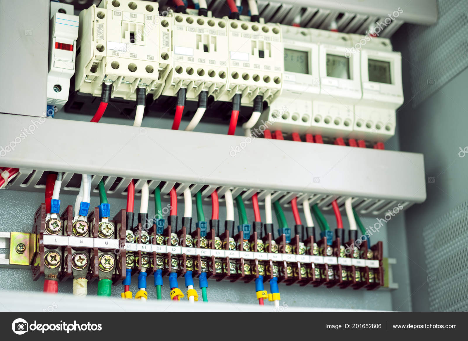hight resolution of electric box texture background electric control panel many terminals wires stock photo