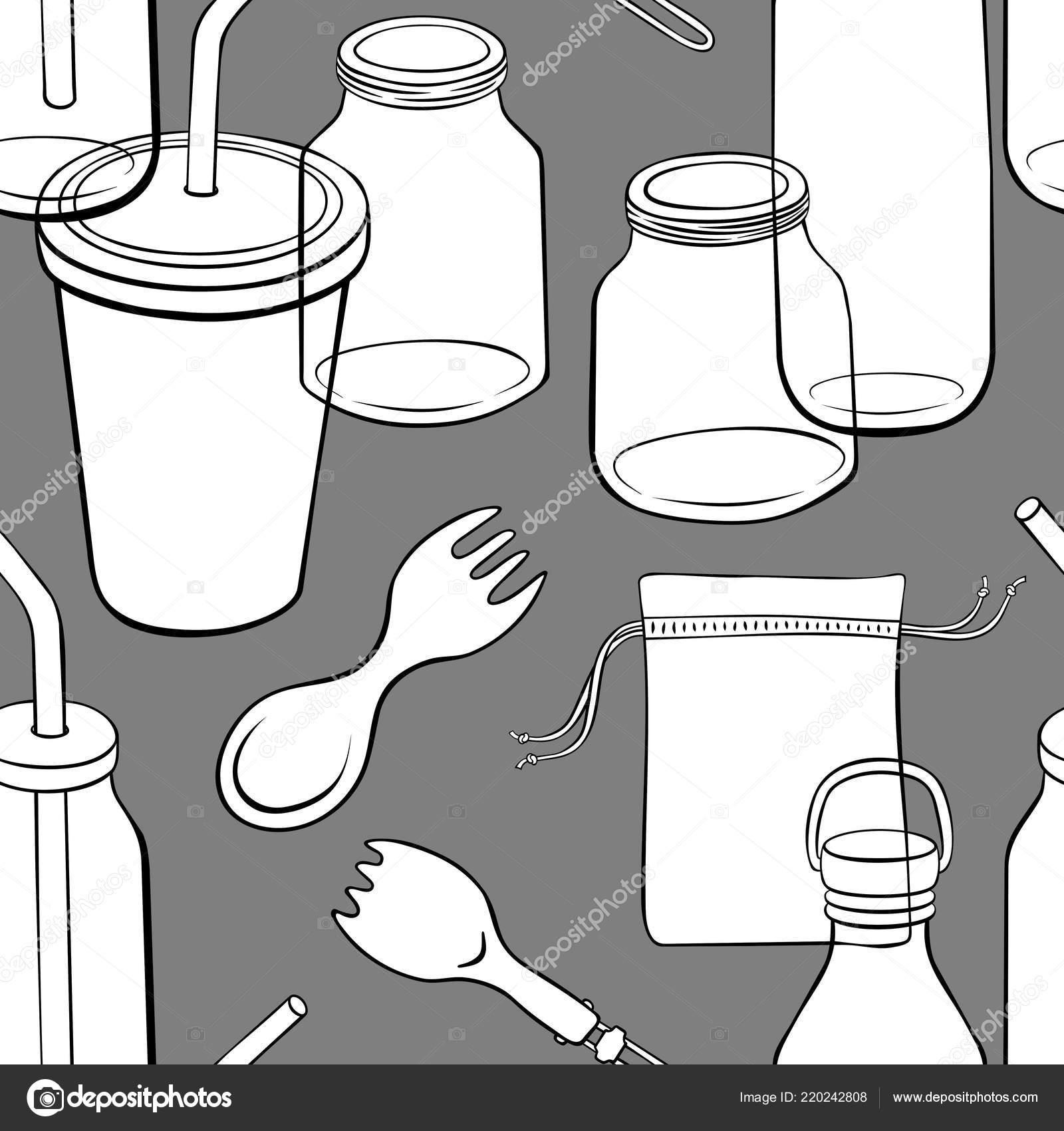 black kitchen appliances cabinet doors with glass 零废弃物厨房用具无缝的模式与手绘黑色和白色元素在黑暗的背景 图库矢量 零废弃物厨房用具无缝的模式与手绘黑色和白色元素在