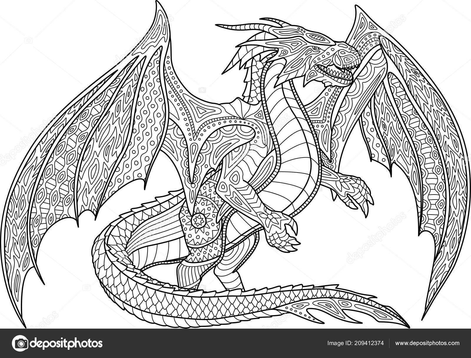 32 Drachen Malvorlagen Für Erwachsene - Besten Bilder von
