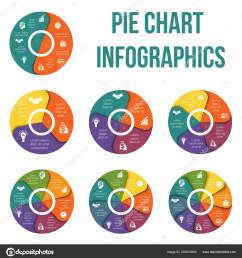pie chart diagram data elements template infographic infographics positions set stock vector [ 1574 x 1700 Pixel ]