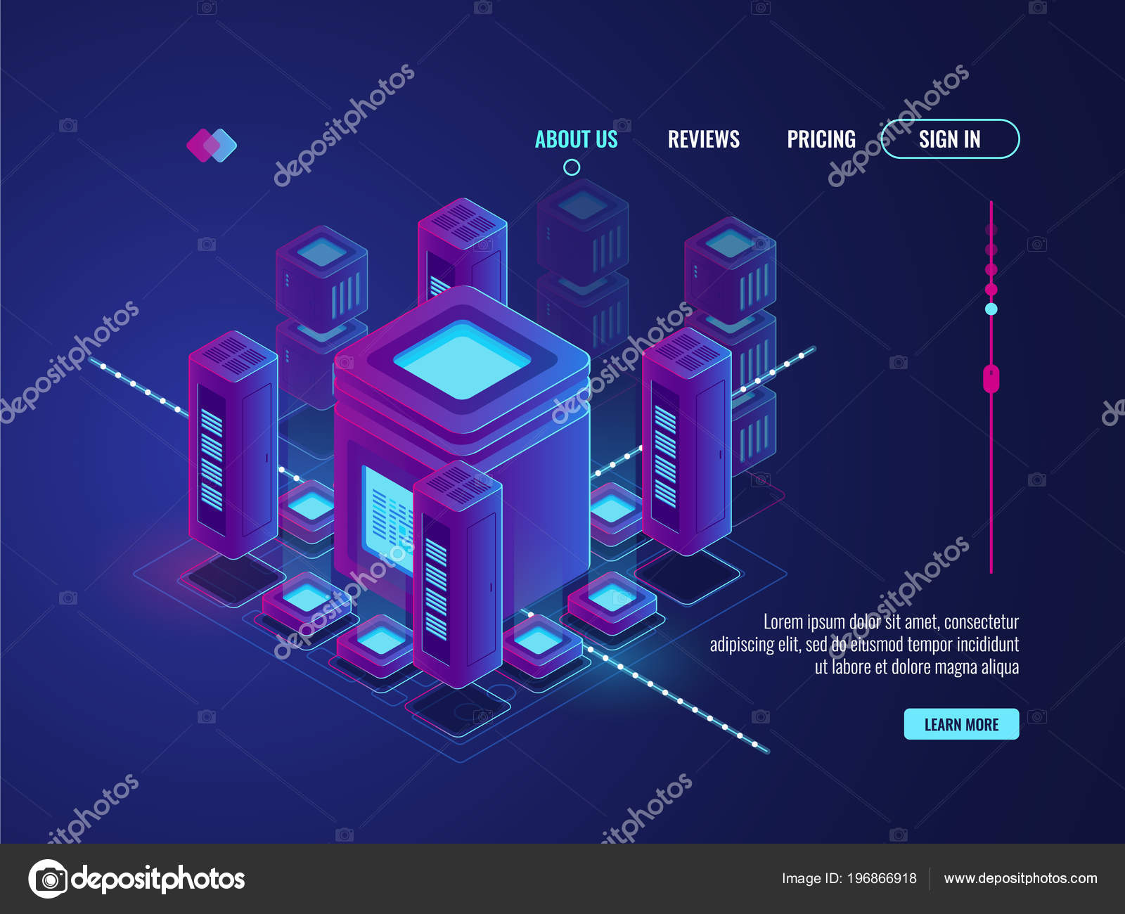hight resolution of digital smart city concept big data transmission processing data center stock vector