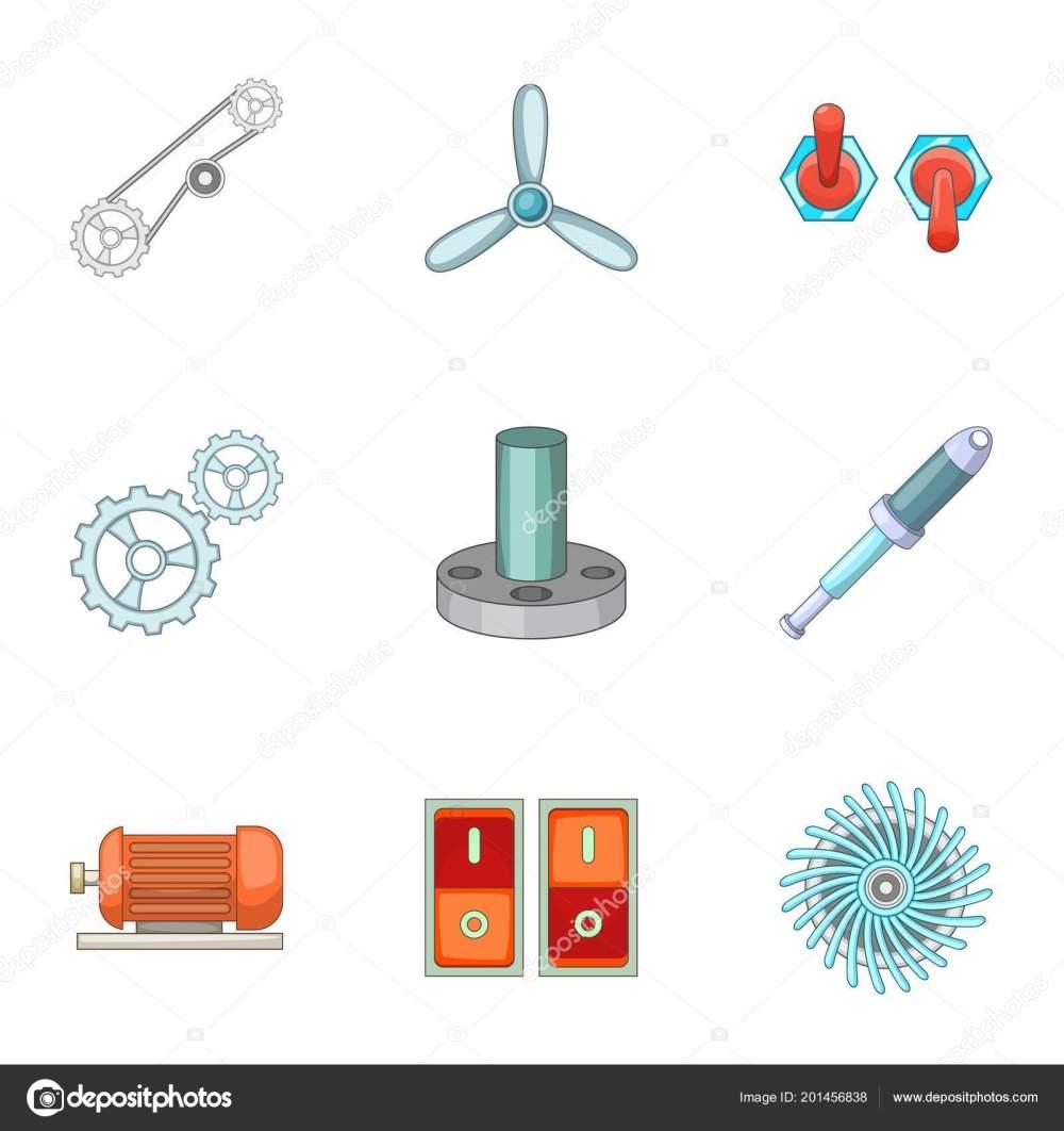 medium resolution of engine parts icons set cartoon style u2014 stock vector ylivdesignengine parts icons set