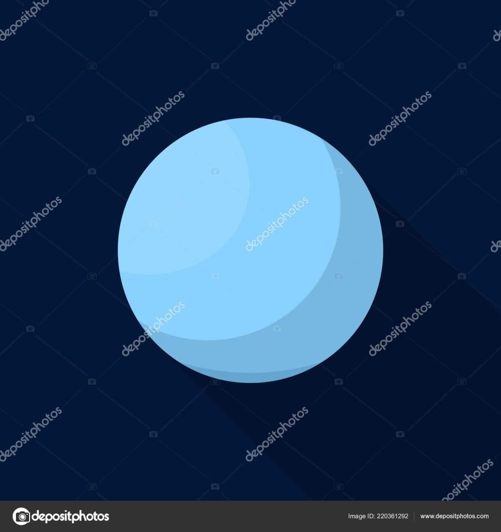 medium resolution of uranus planet icon flat style stock vector