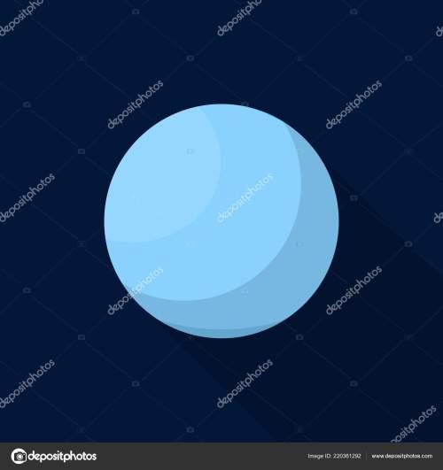 small resolution of uranus planet icon flat style stock vector