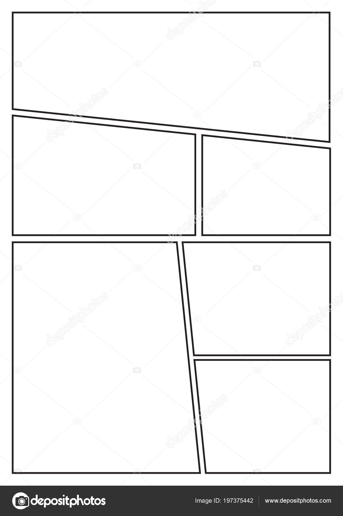 Manga Storyboard Layout Template Rapidly Create Comic Book