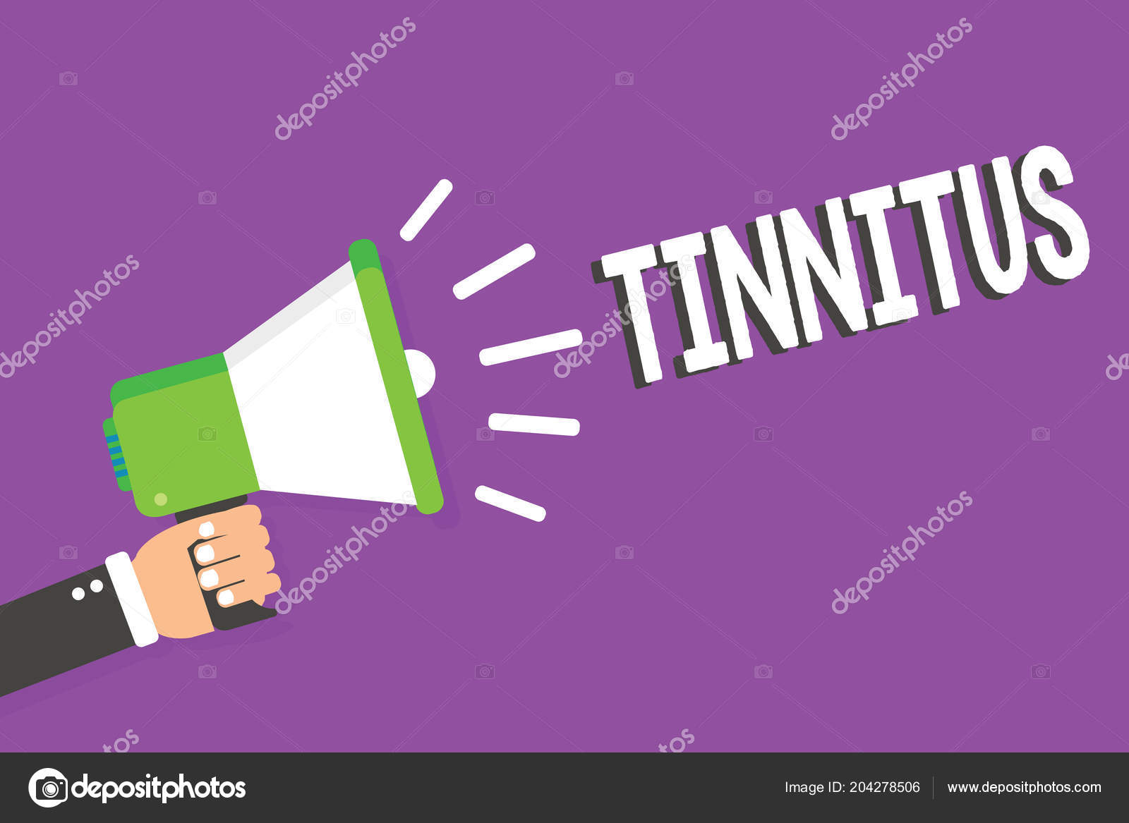 hight resolution of word writing text tinnitus business concept for a ringing or music and similar sensation of sound in ears man holding megaphone loudspeaker loud screaming