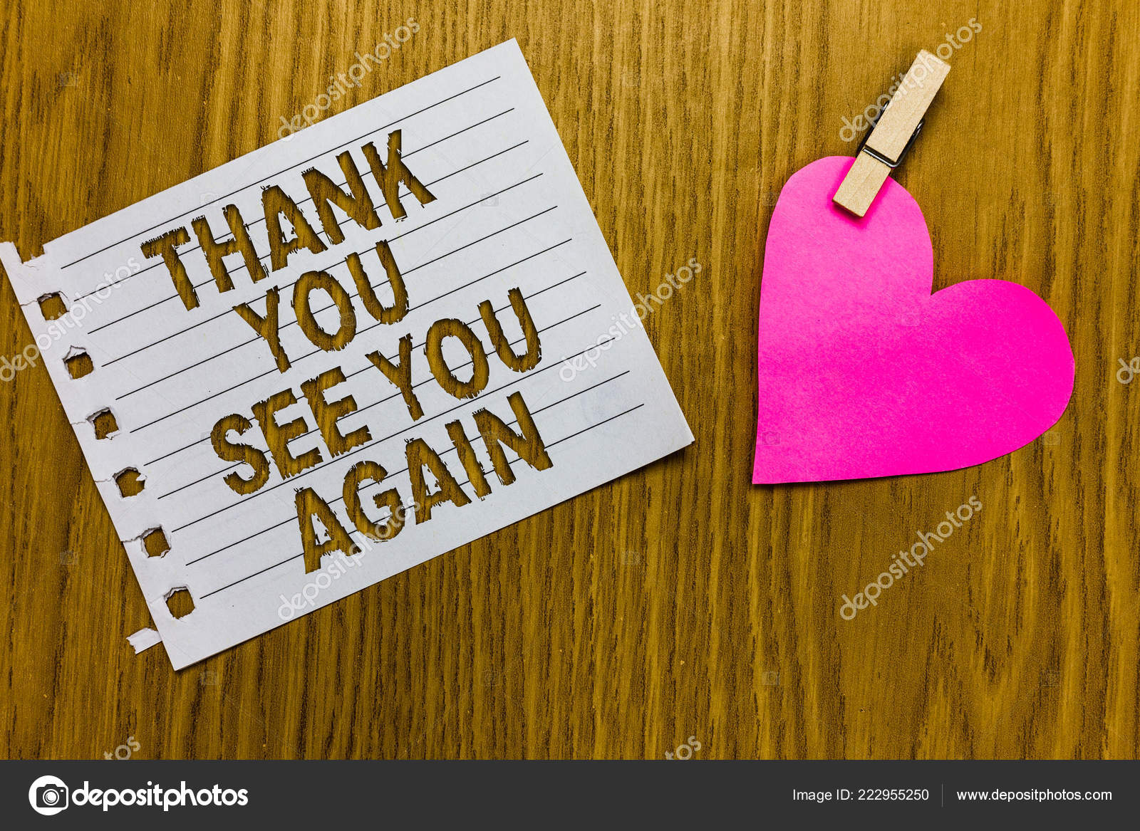 Conceptual Hand Writing Showing Thank You See You Again