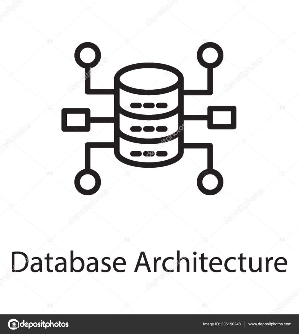 medium resolution of hardware devices loop show database architecture icon stock vector