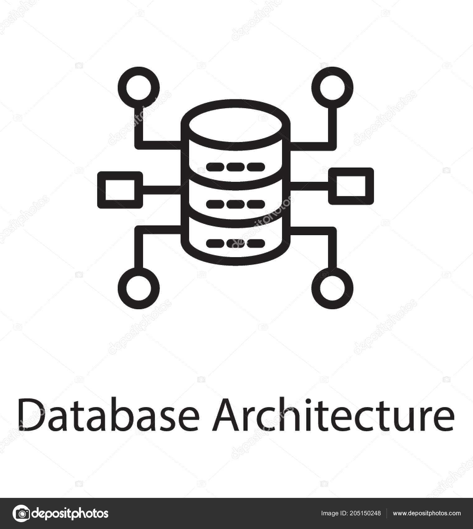hight resolution of hardware devices loop show database architecture icon stock vector