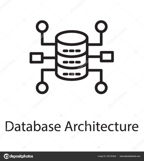 small resolution of hardware devices loop show database architecture icon stock vector