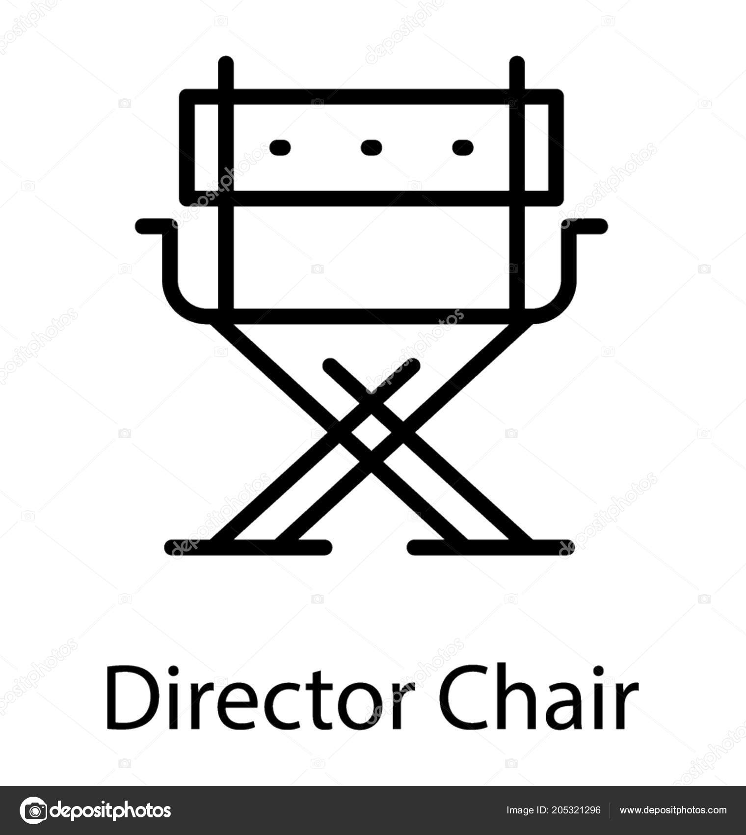 folding chair legs children table and set arms depicting director stock vector a with illustration