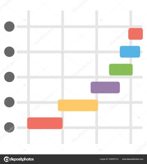 small resolution of aumento bar con varie frequenze raffigurante il diagramma di gantt vettoriali di prosymbols