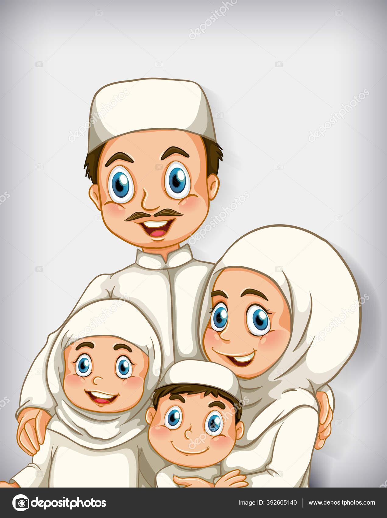 Gambar Anggota Keluarga Muslim : gambar, anggota, keluarga, muslim, Muslim, Family, Clipart, Vektörler, Grafikleri, Sayfa, Depositphotos®