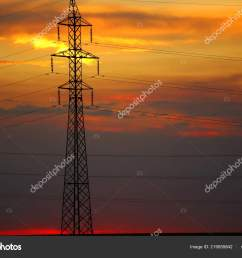 old transformer pole wires beautiful sunset stock photo [ 1600 x 1167 Pixel ]