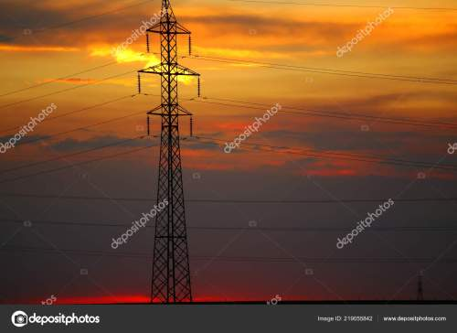 small resolution of old transformer pole wires beautiful sunset stock photo