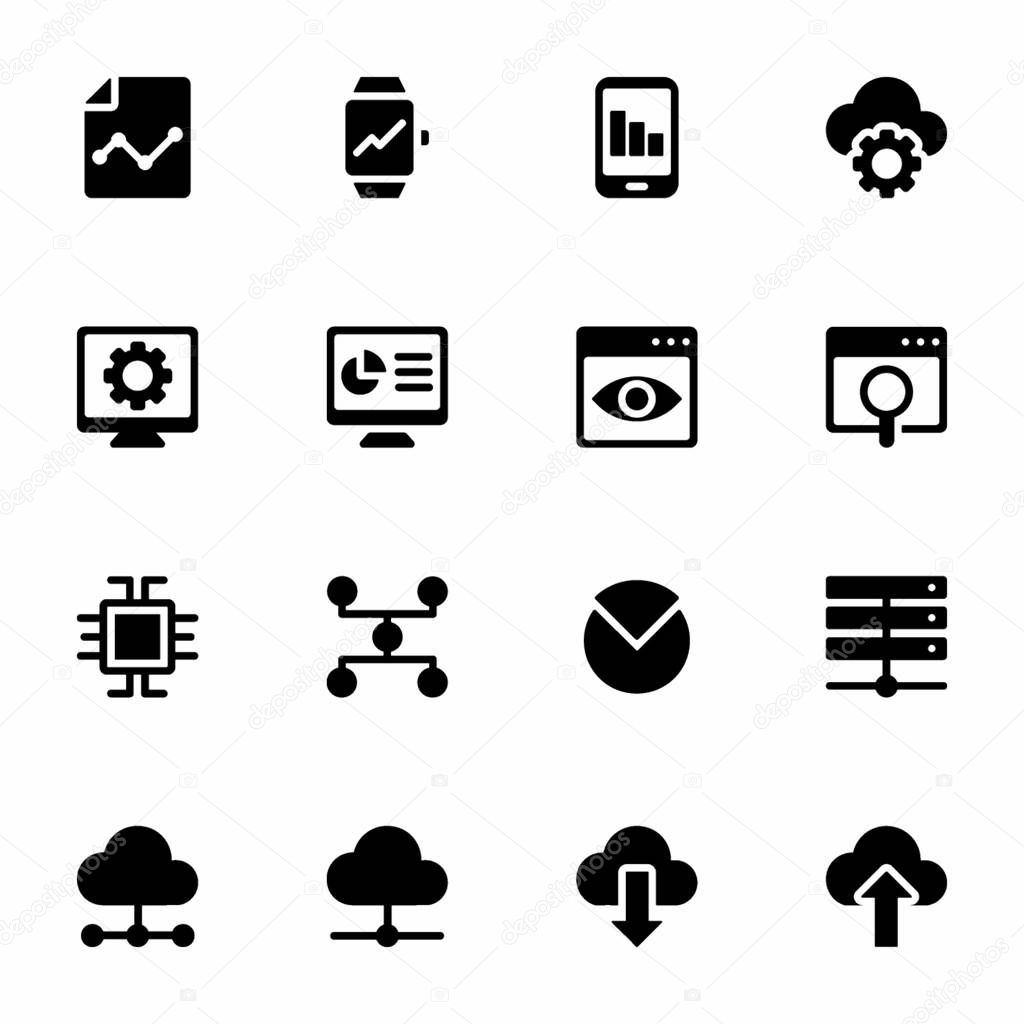 Here Is A Set Of Business Analytics Filled Icons Having Captivating Visuals Concept Of Data Analytics Icons That You Can Easily Edit And Utilize As Per Your Project Need Premium Vector