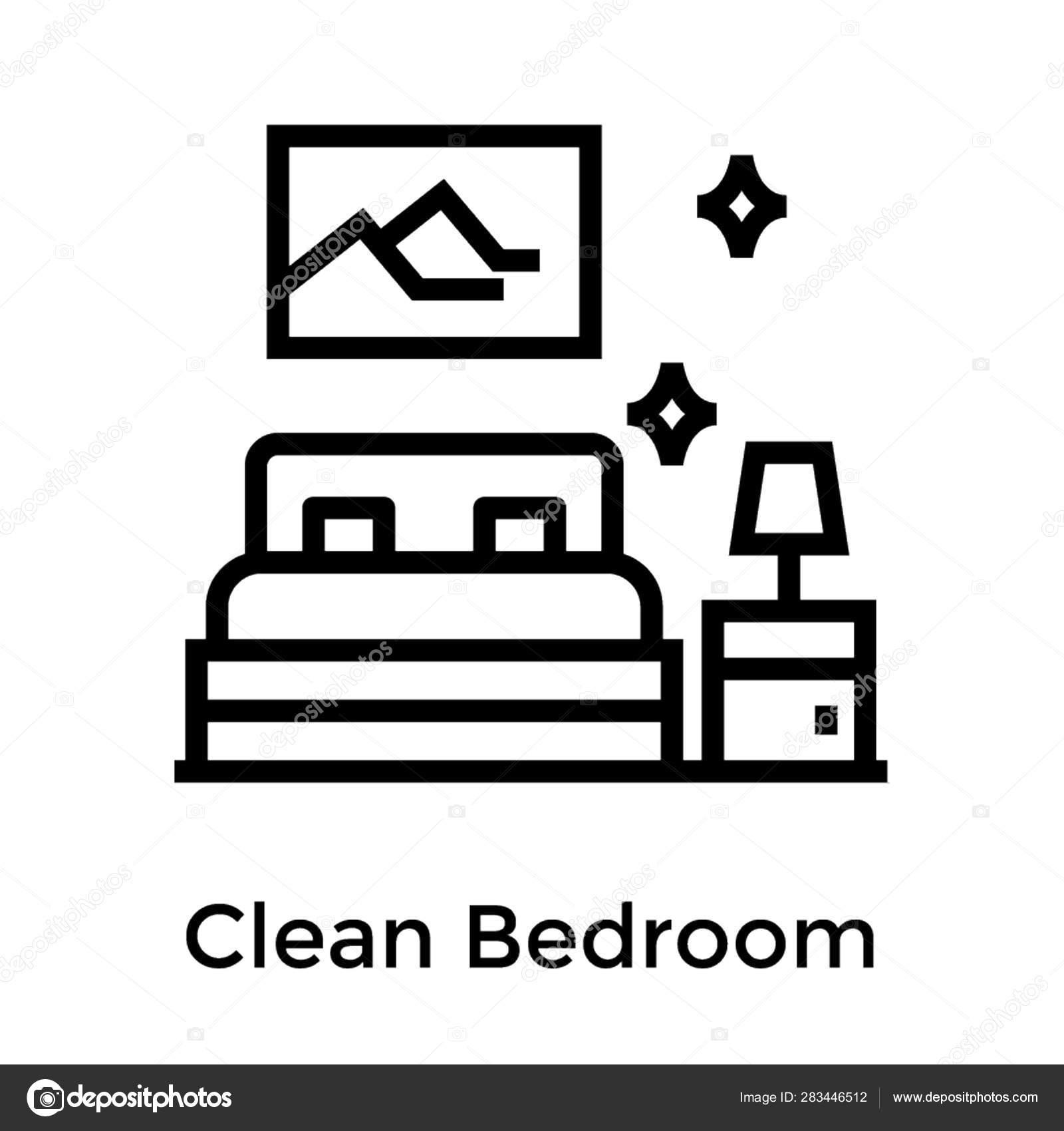 Icon Clean Bedroom Furniture Stock Vector C Vectorspoint 283446512