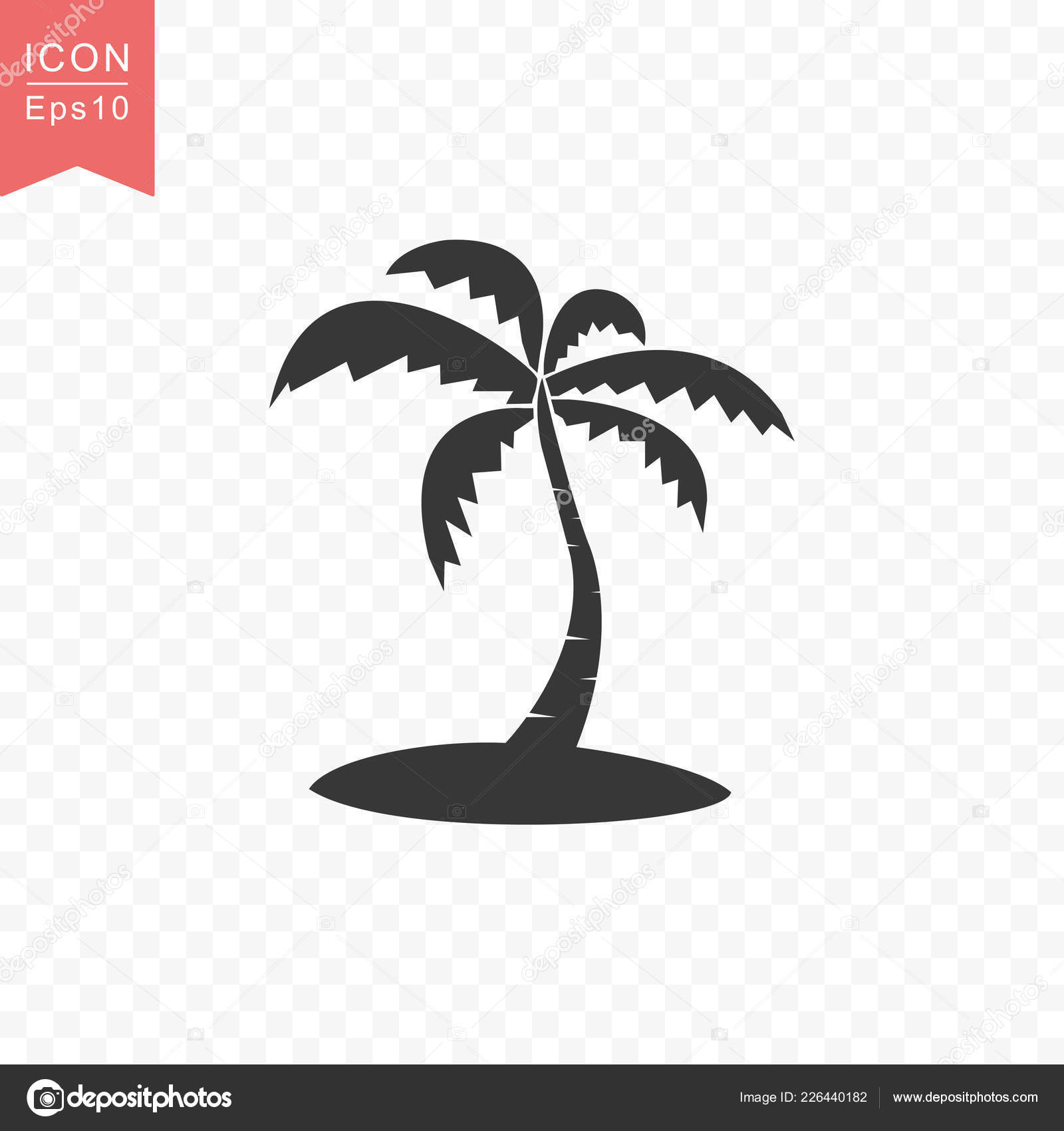 palm tree icon simple