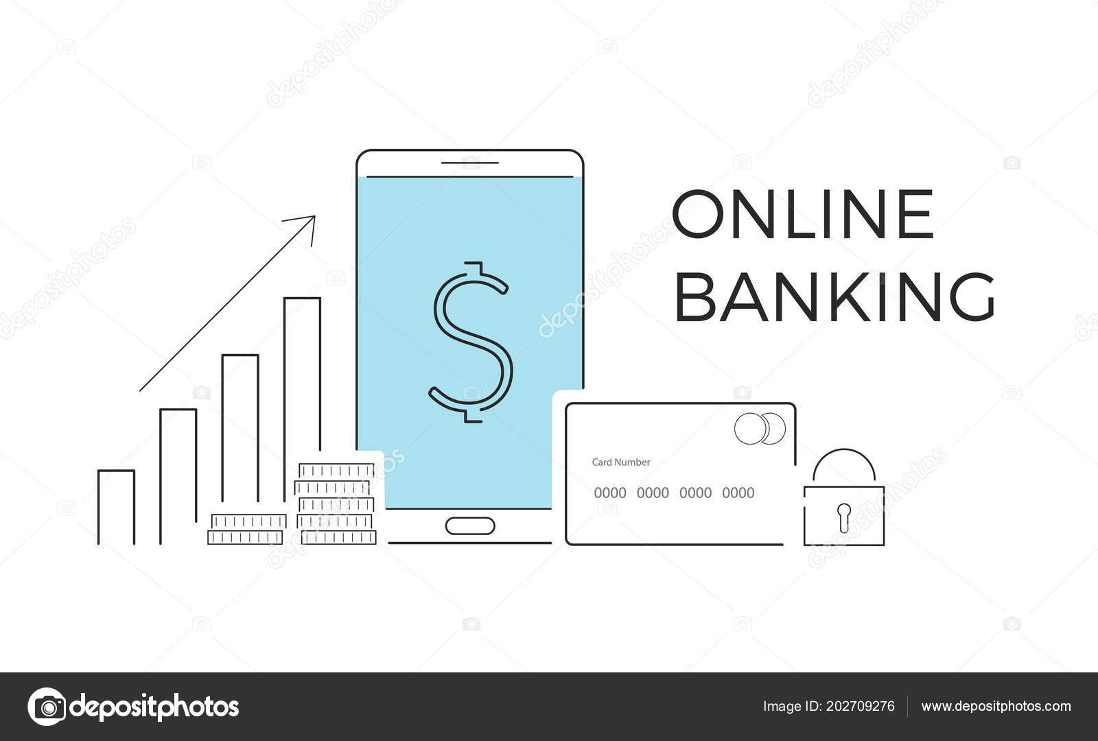Vector Illustration For Online Banking Concept For Mobile Bank And Internet Payment Flat Banner Eps 10 Stock Vector C X3name 202709276