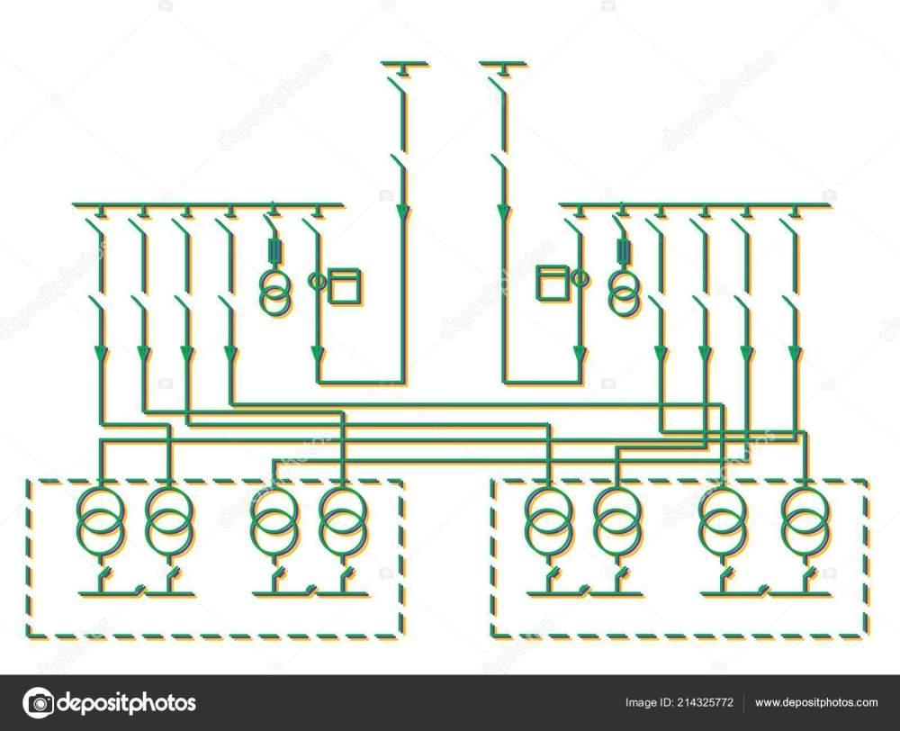 medium resolution of electric wiring diagram power transformers stock photo