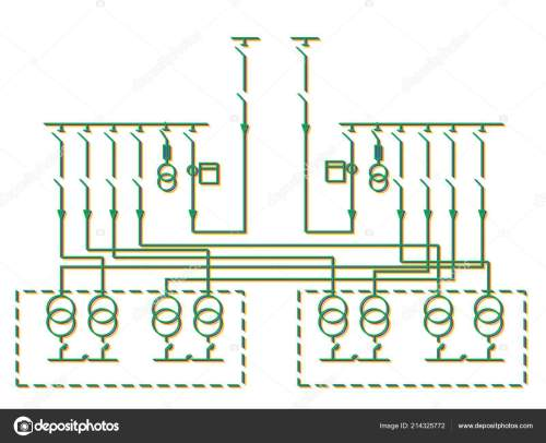 small resolution of electric wiring diagram power transformers stock photo
