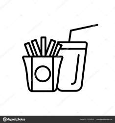 Fast Food Icon Vector Isolated White Background Fast Food Transparent Stock Vector © vector best #210164536