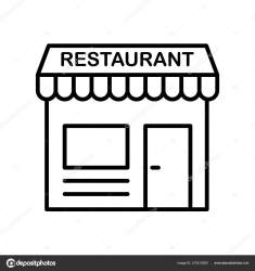 Restaurant Icon Vector Isolated White Background Restaurant Transparent Sign Thin Stock Vector © vector best #210212560