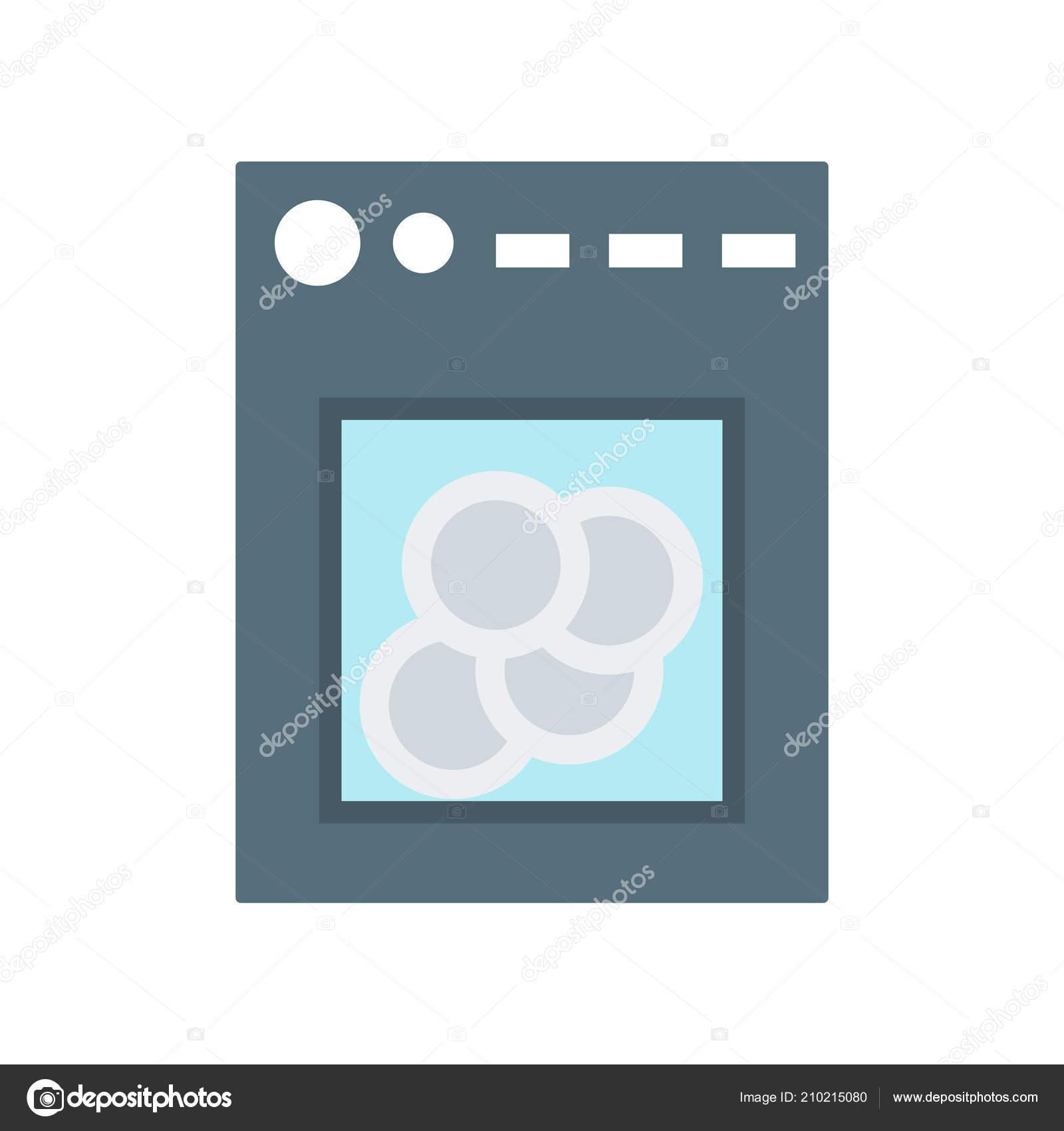 dishwasher icon vector sign