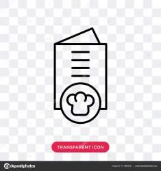 Restaurant menu vector icon isolated on transparent background Restaurant menu logo design Stock Vector © vector best #211865056