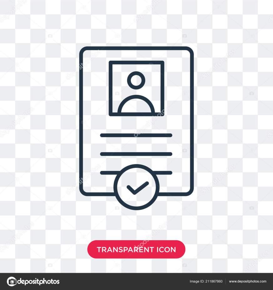 Icône de vecteur de contrat isolé sur fond transparent ...