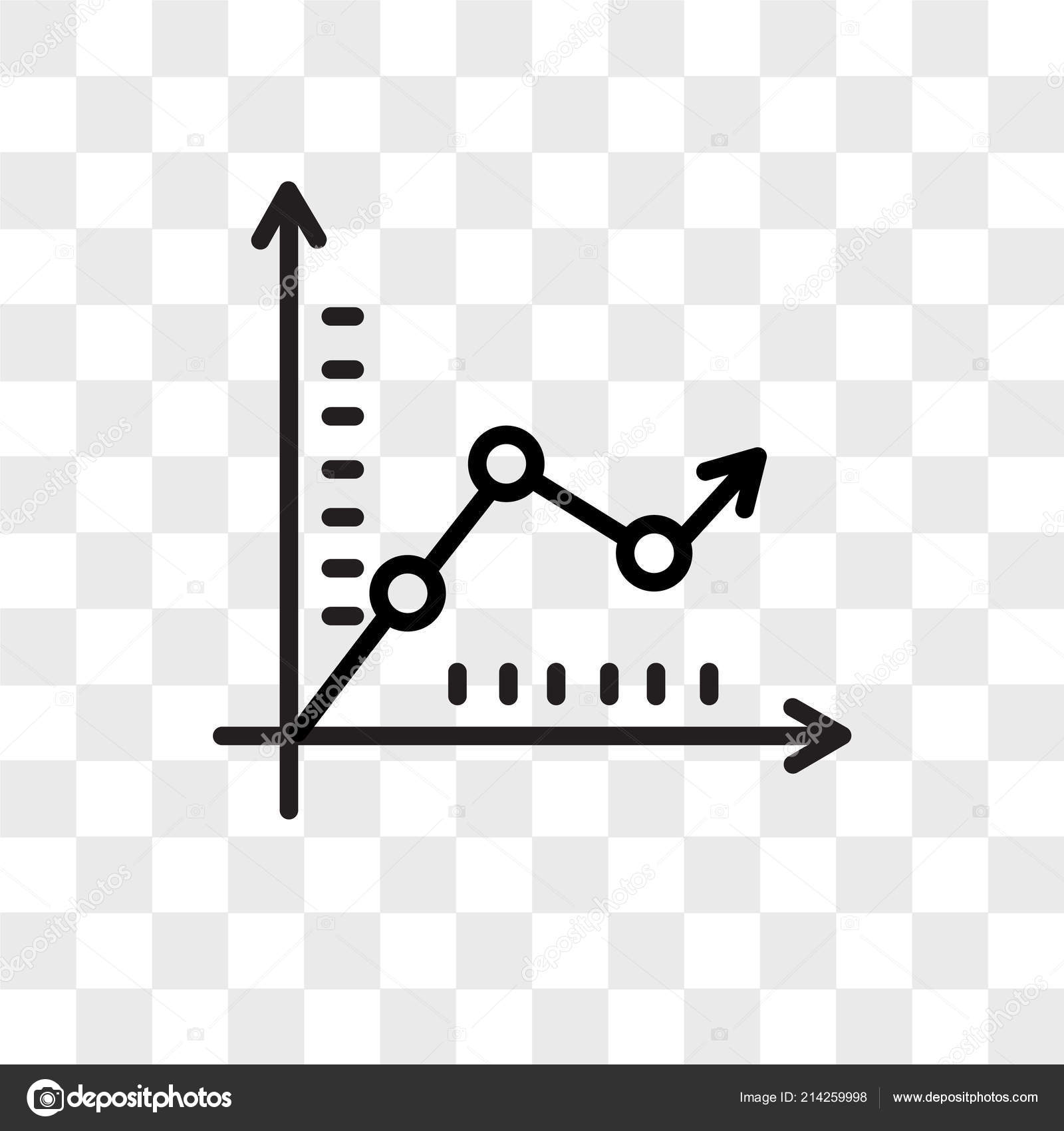graph vector icon isolated