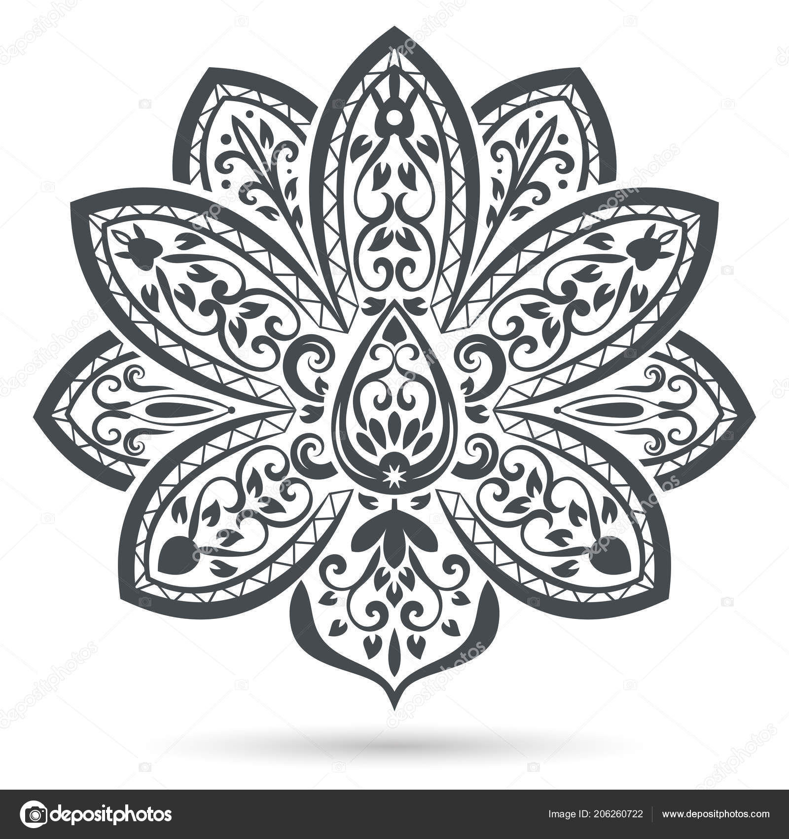 black white flower designs