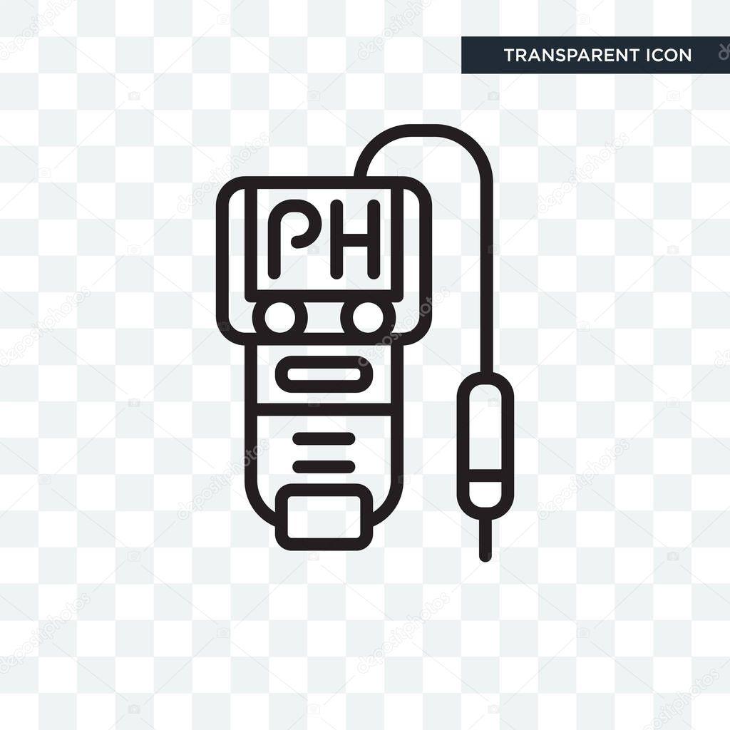 투명 한 배경, Ph 미터 로고 디자인에 고립 된 Ph 미터 벡터 아이콘 — 스톡 벡터