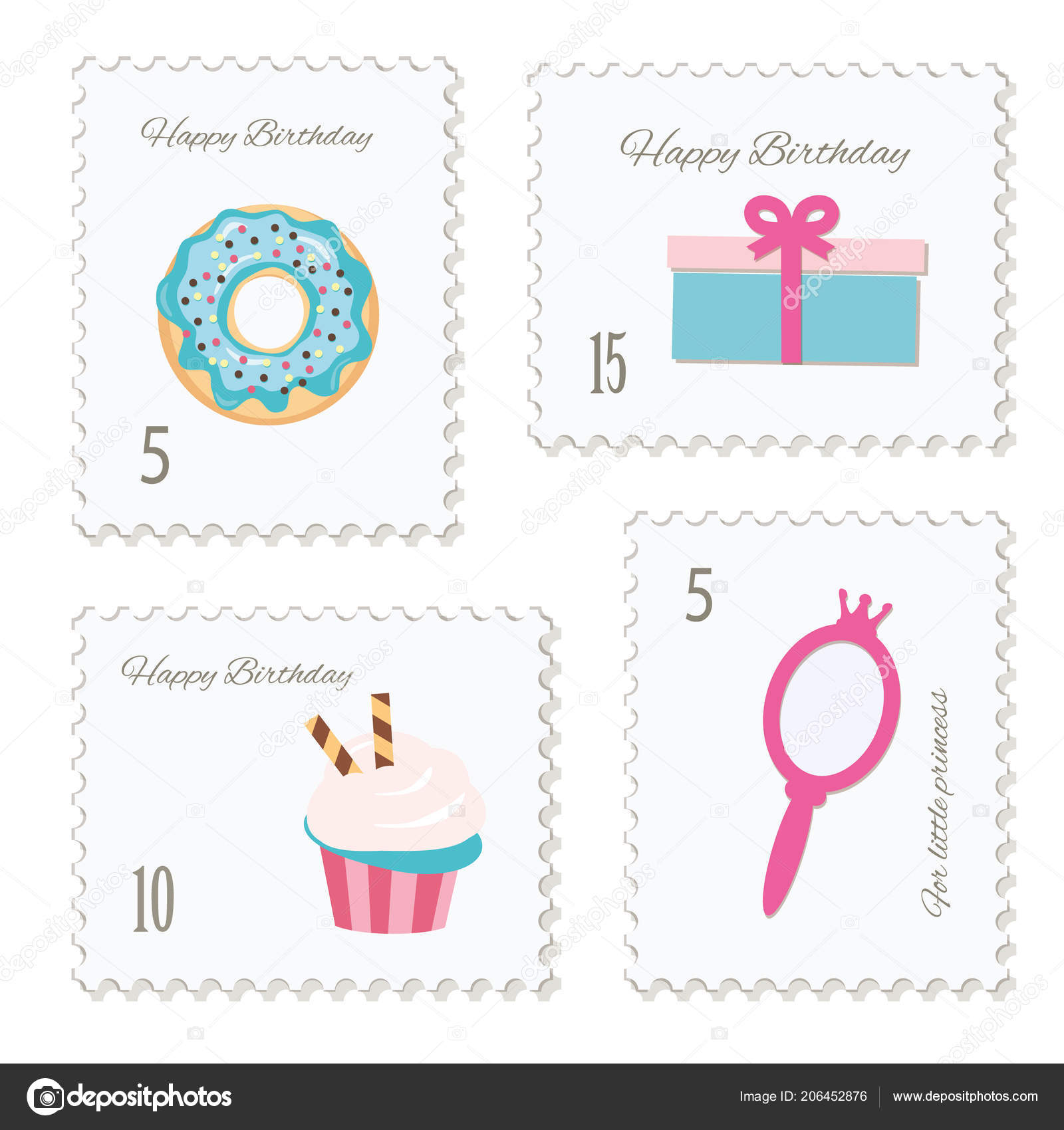 cute postage stamps birthday