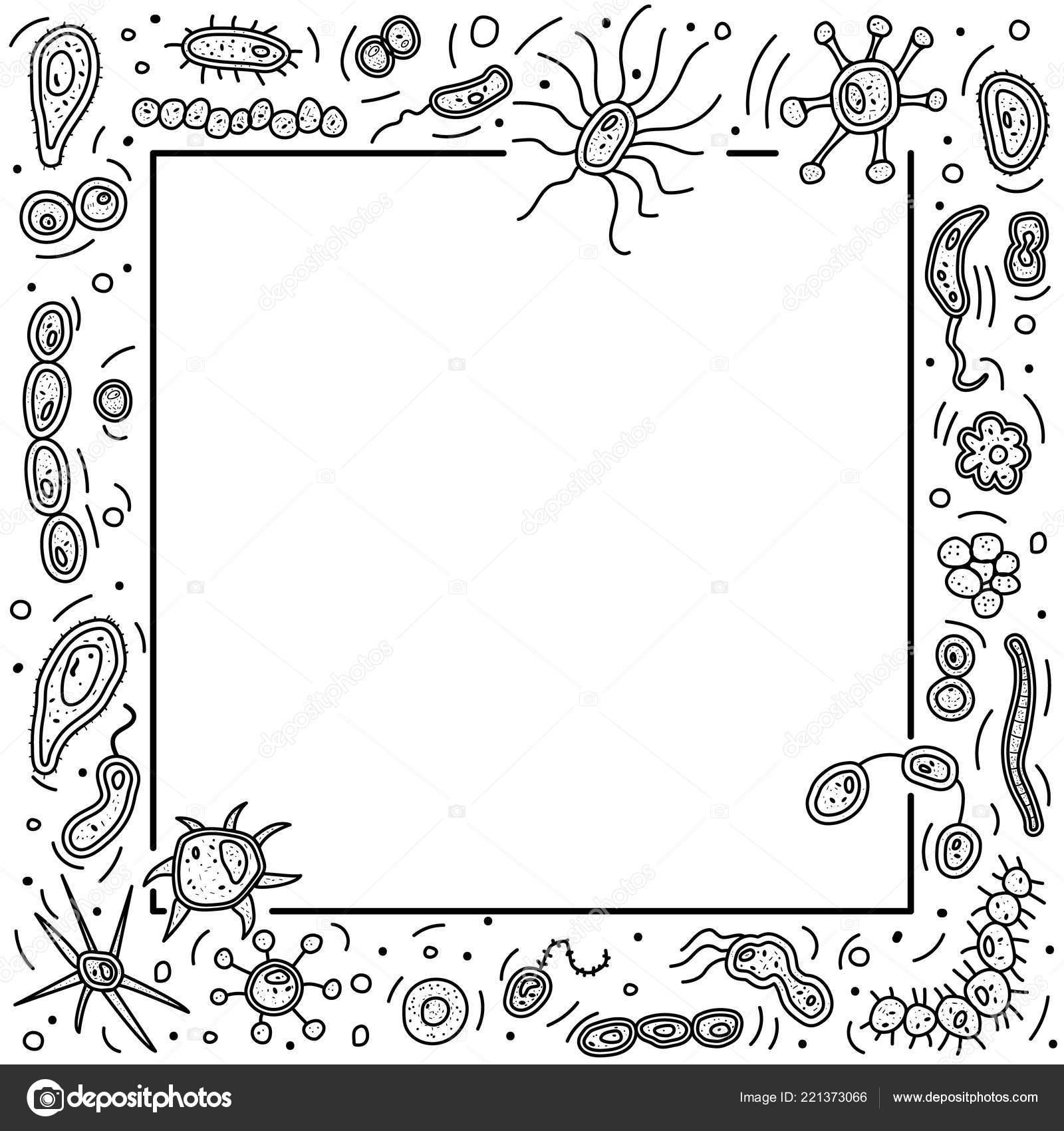 Células de bactérias definir a composição. Ilustração