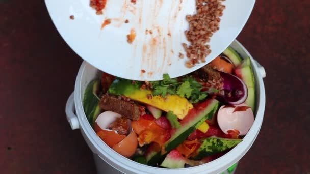 kitchen compost container navy blue cabinets 厨房用的堆肥容器剩菜和废料零浪费堆肥和再循环 图库视频影像 c fevziie