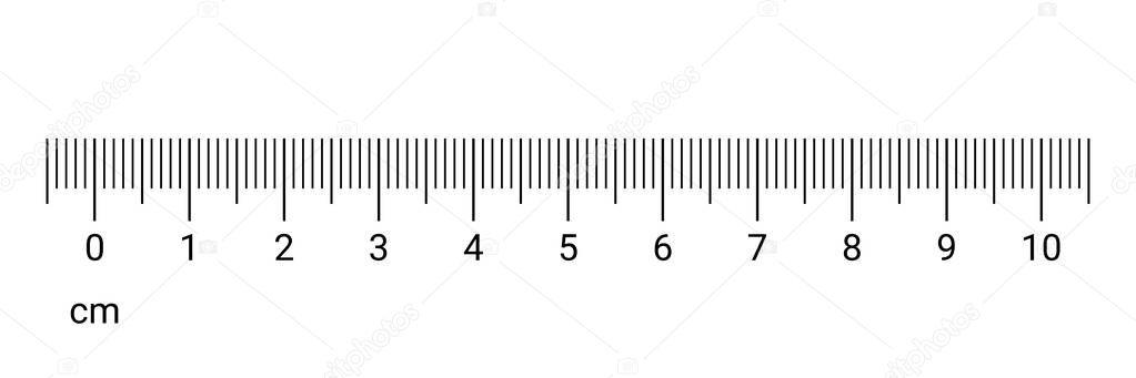 Lineal cm Messskala Zahlen Vektor — Stockvektor © avector #221395168