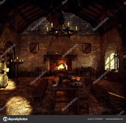 Fantasy Medieval Castle Kitchen Stock Photo © Ravven #222590220