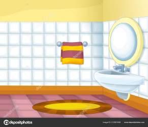 Cartoon Scene Colorful Empty Bathroom Illustration Children Stock Photo © illustrator hft #213561648