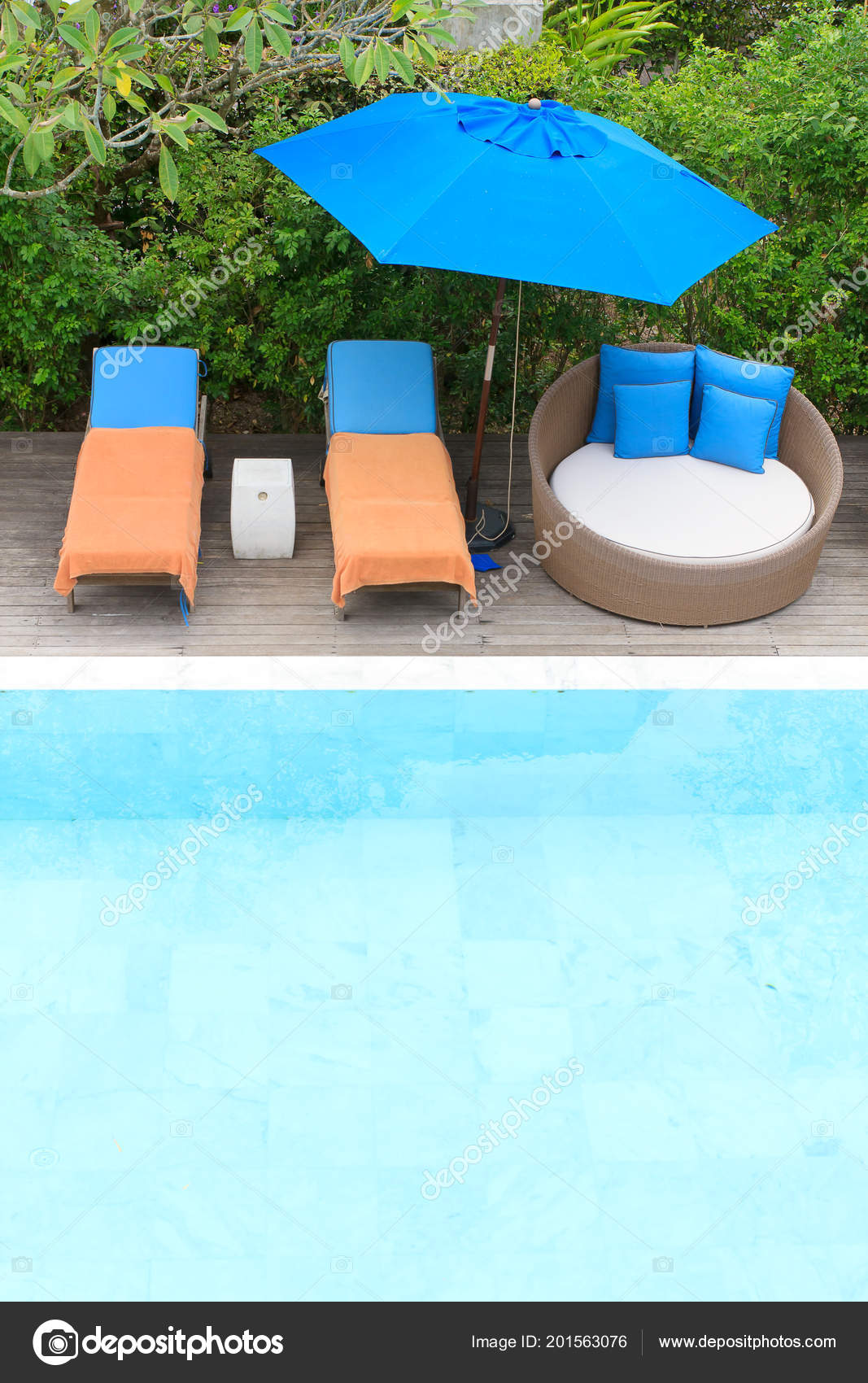 Chairs For Pool Relaxing Chairs Swimming Pool Stock Photo Makemoneystock