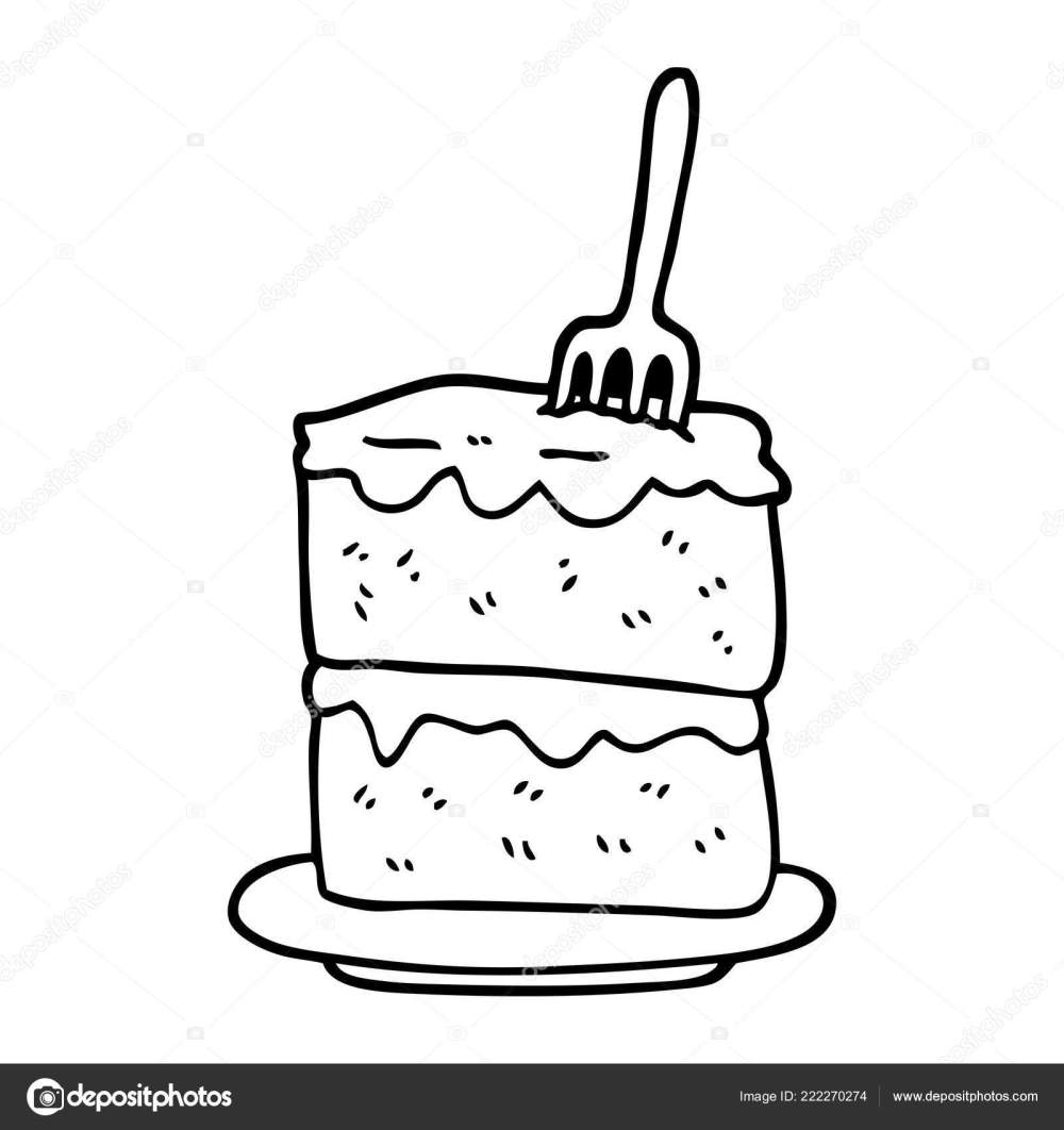 medium resolution of black and white cartoon slice of cake vector by lineartestpilot